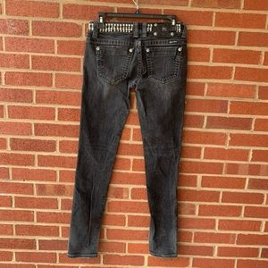 Miss Me studded black skinny jeans size 27